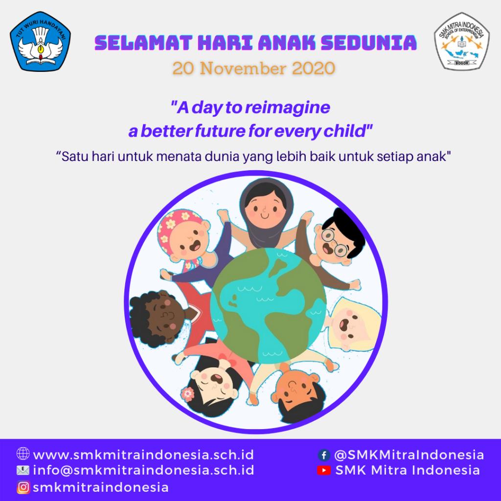 Selamat Hari Anak Sedunia 20 November 2020