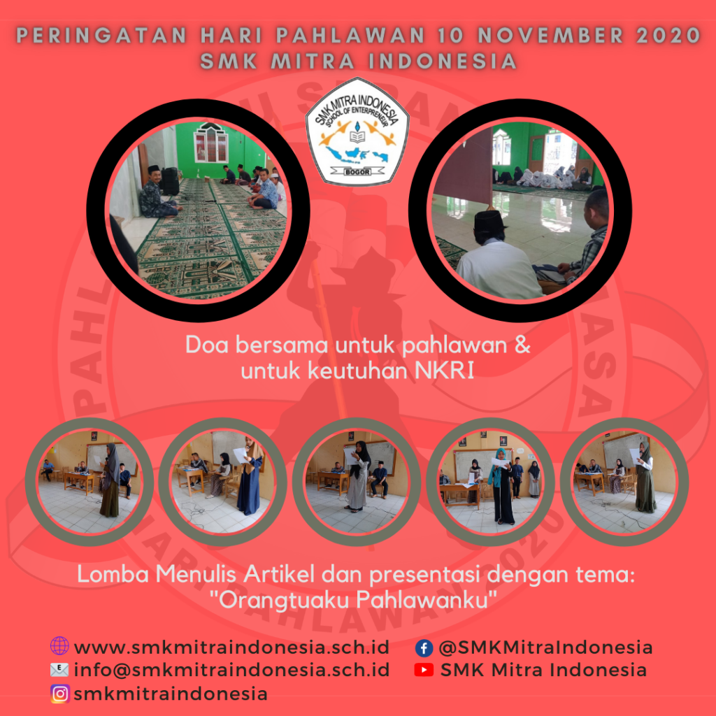 Peringatan Hari Pahlawan 10 November 2020 SMK Mitra Indonesia